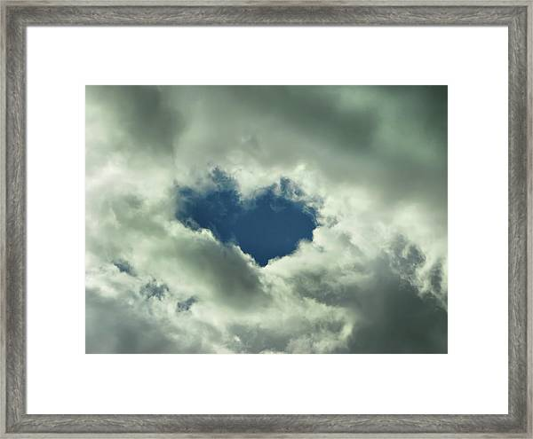 Valentine's Day - Heart Shape Framed Print