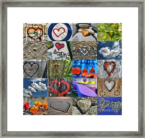 Valentine's Day - Hearts For Sale Framed Print