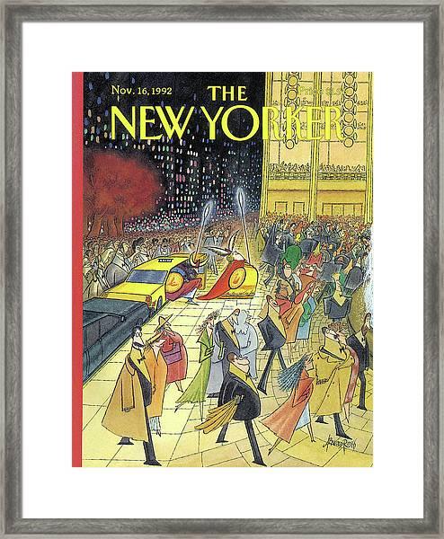 New Yorker November 16th, 1992 Framed Print
