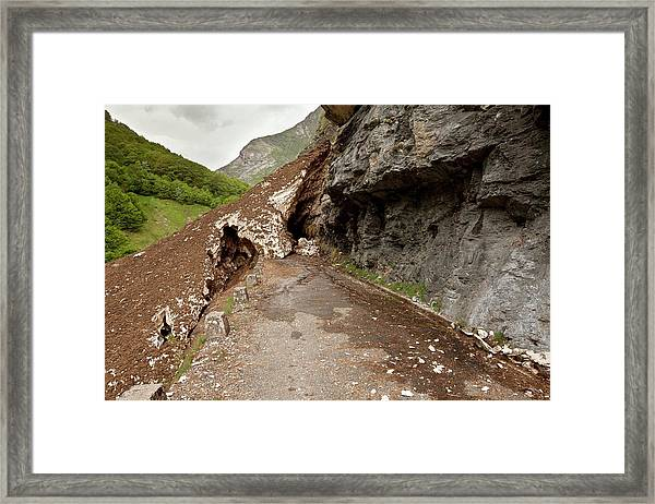 Valle D'ossoue Blocked By Snow Framed Print