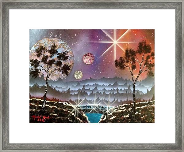Valley Bridge Framed Print