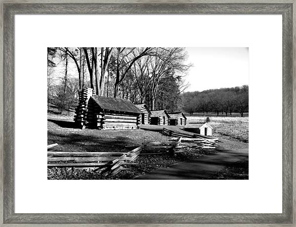 Valley Forge In Black And White Framed Print