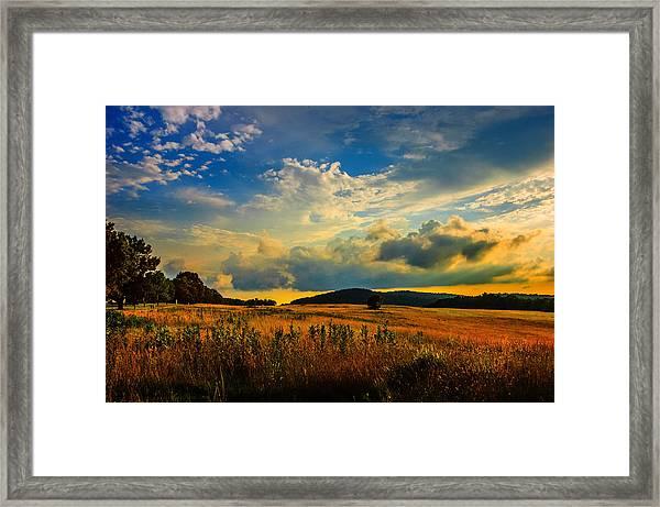 Valley Forge Sunset Framed Print