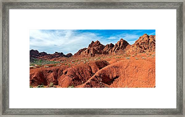 Valley Of Fire Pano Framed Print
