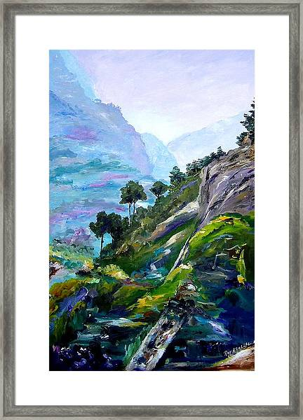 Valley Of Saints Framed Print