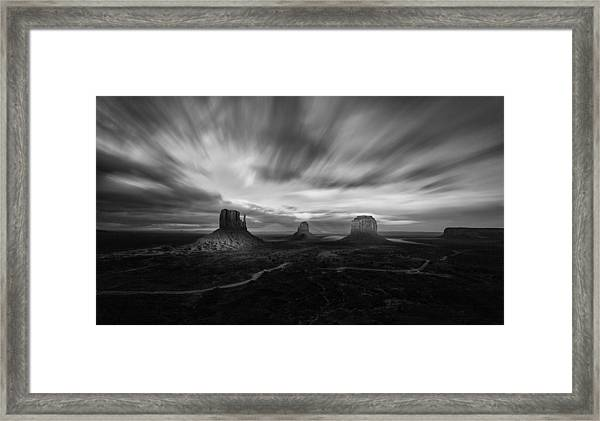 Valley Of Time Framed Print