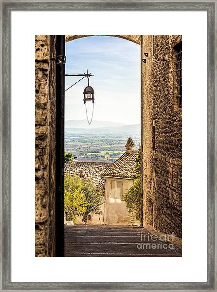 Valley Outside Assisi Framed Print