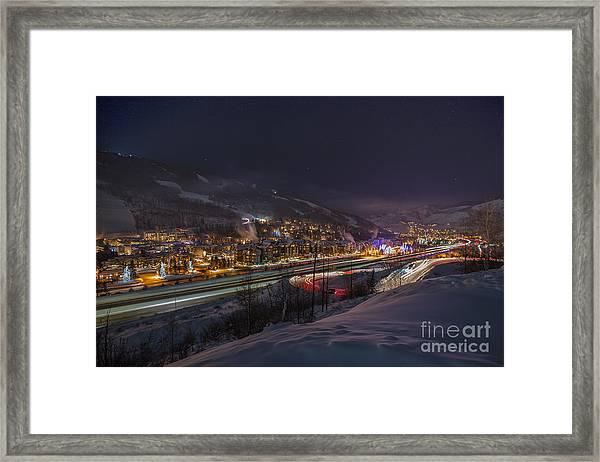 Valley Traffic Framed Print