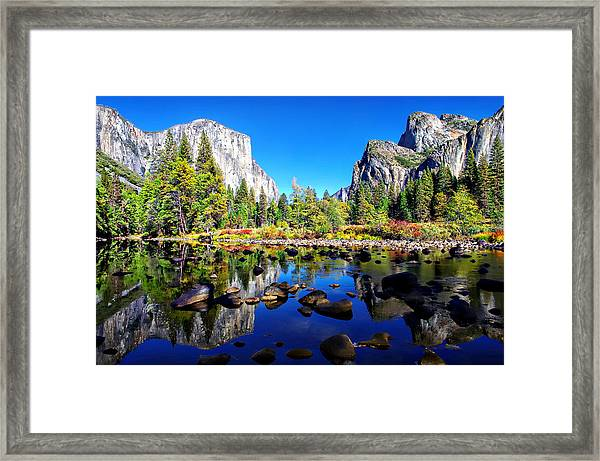 Valley View Reflection Yosemite National Park Framed Print