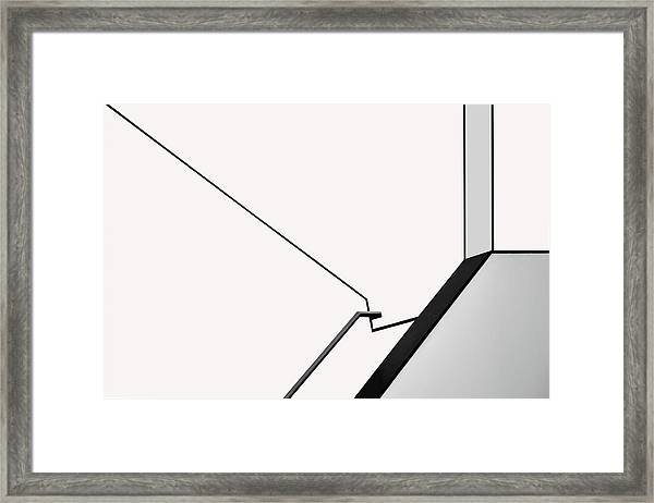 Van Abbe Lines Framed Print by Jan Niezen