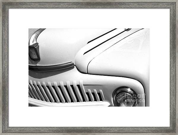 Framed Print featuring the photograph Van Abstract by Mae Wertz