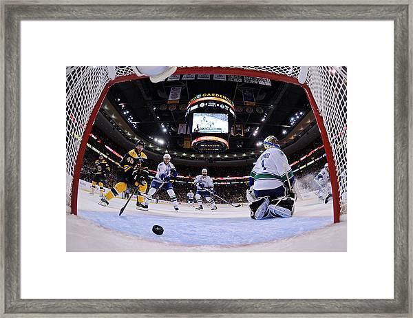Vancouver Canucks V Boston Bruins - Game Six Framed Print by Elsa