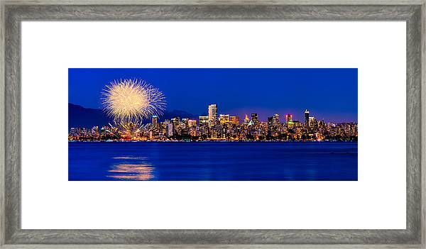 Vancouver Celebration Of Light Fireworks 2013 - Day 1 Framed Print