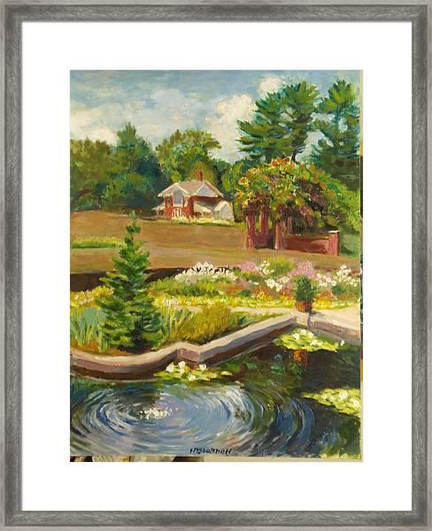Vanderbilt Italian Garden Framed Print