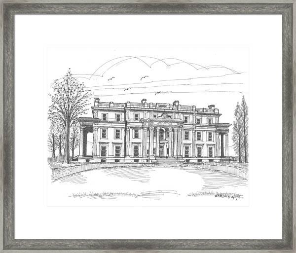 Vanderbilt Mansion Framed Print