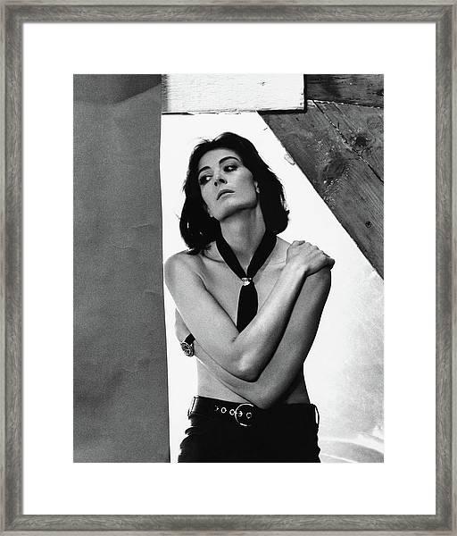 Vanessa Redgrave Posing Shirtless Framed Print