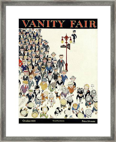 Vanity Fair Cover Featuring A Crowd Framed Print
