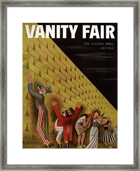 Vanity Fair Cover Featuring A Group Of Figures Framed Print by Miguel Covarrubias