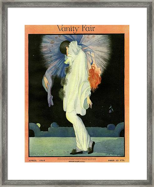 Vanity Fair Cover Featuring A Harlequin Framed Print