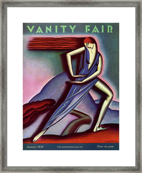 Vanity Fair Cover Featuring A Woman Dancing Framed Print