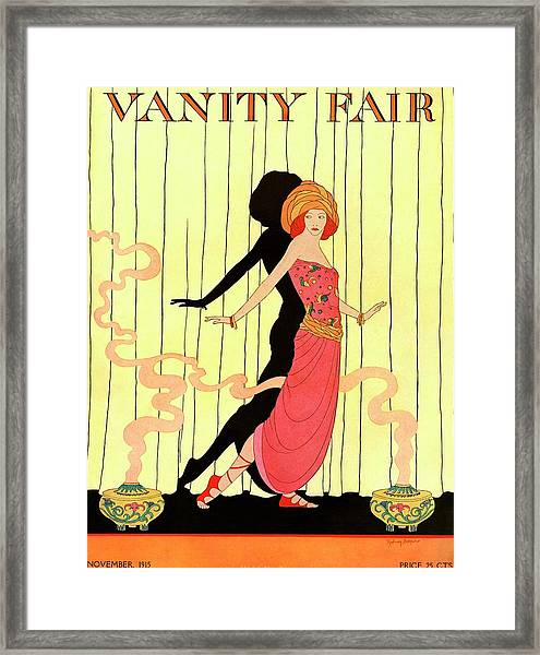 Vanity Fair Cover Featuring A Woman Onstage Framed Print by Sydney Joseph