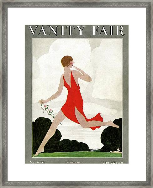 Vanity Fair Cover Featuring A Young Woman Framed Print