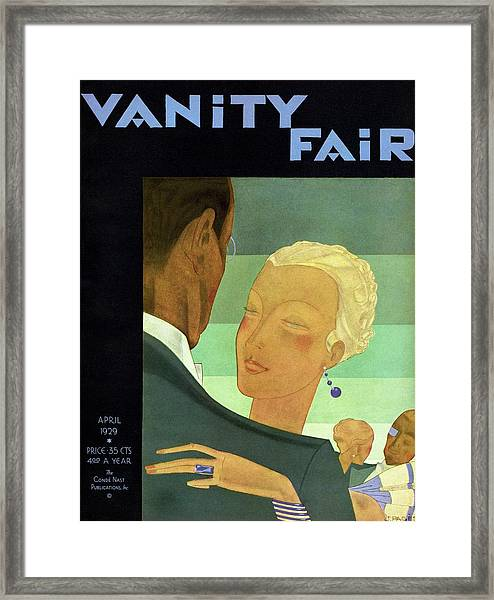 Vanity Fair Cover Featuring Two Couples Dancing Framed Print