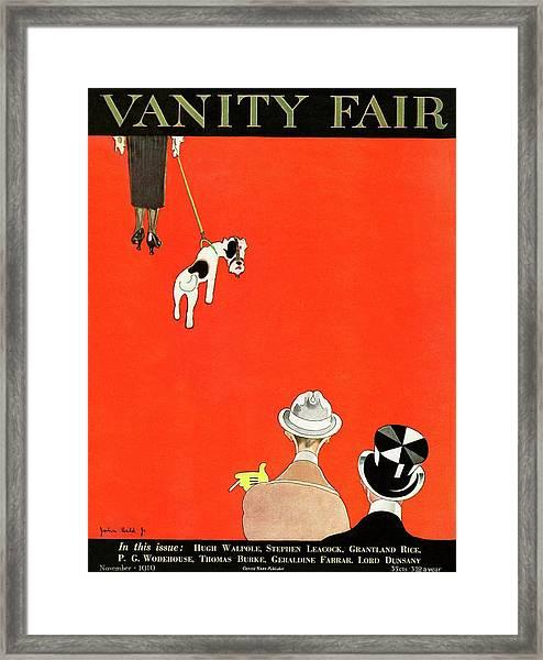 Vanity Fair Cover Of Dog Walking Framed Print