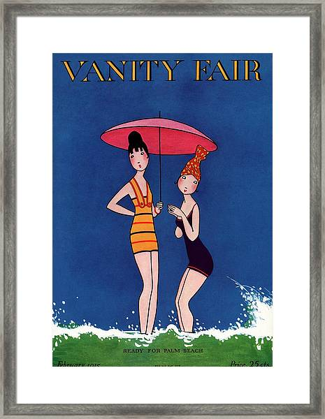 Vanity Fair Cover Featuring Two Women Standing Framed Print