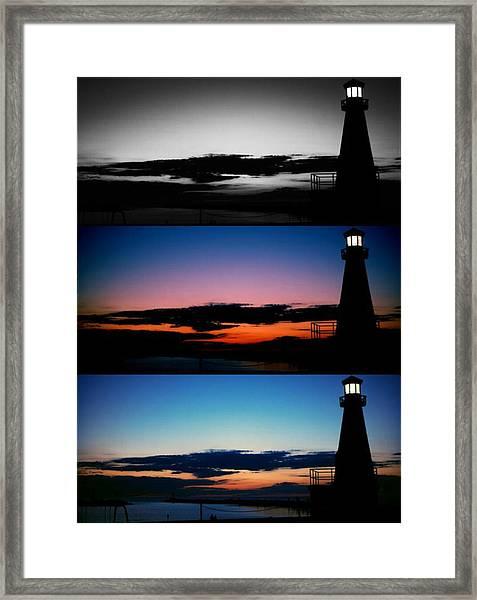 Variations Of Lighthouse Framed Print