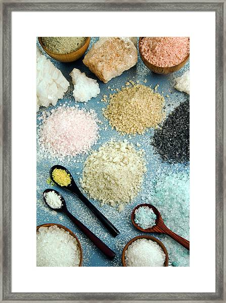 Various Types Of Salt Framed Print