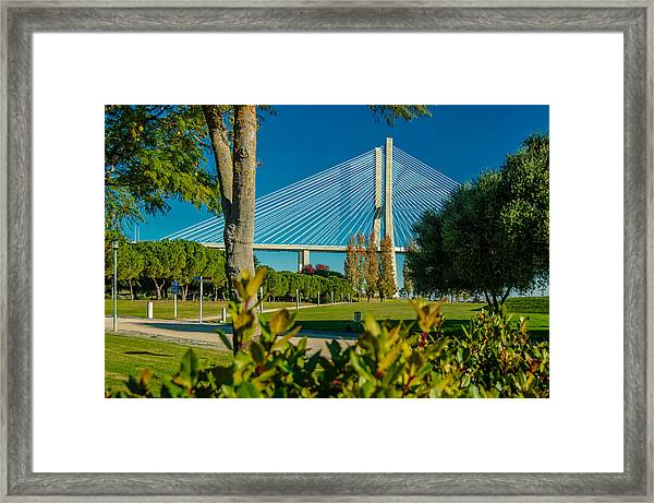 Vasco Da Gama Bridge IIi Framed Print
