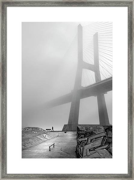 Vasco Da Gama Bridge - Lisbon Framed Print