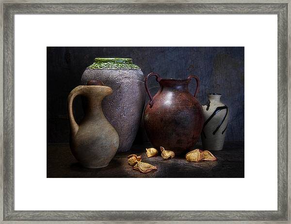 Vases And Urns Still Life Framed Print