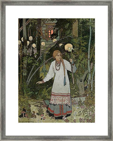 Vassilissa In The Forest Framed Print