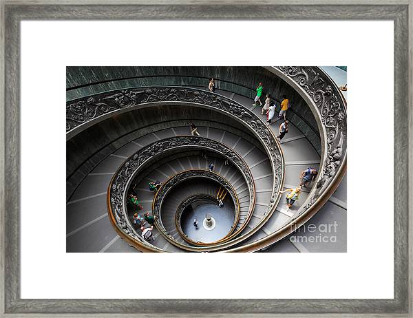 Vatican Spiral Staircase Framed Print