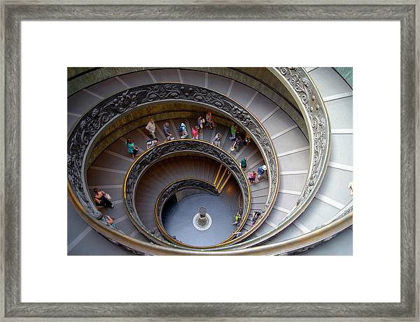 Vatican Spiral Staircase. Framed Print