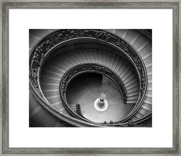 Vatican Stairs Framed Print