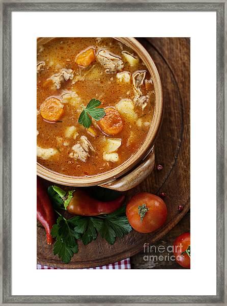 Veal Stew Framed Print