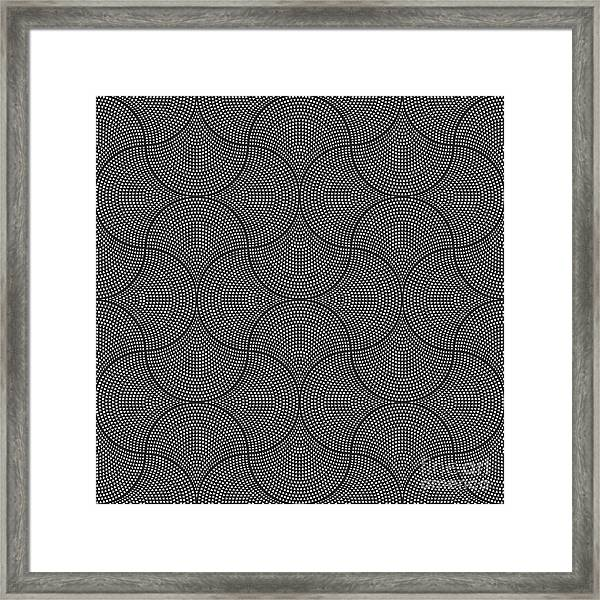 Vector Abstract Seamless Wavy Pattern Framed Print