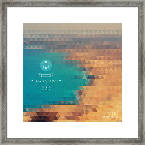 Vector Background Made Of Triangles Framed Print by Lera Efremova