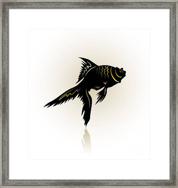 Vector Drawing Of The Silhouette Framed Print