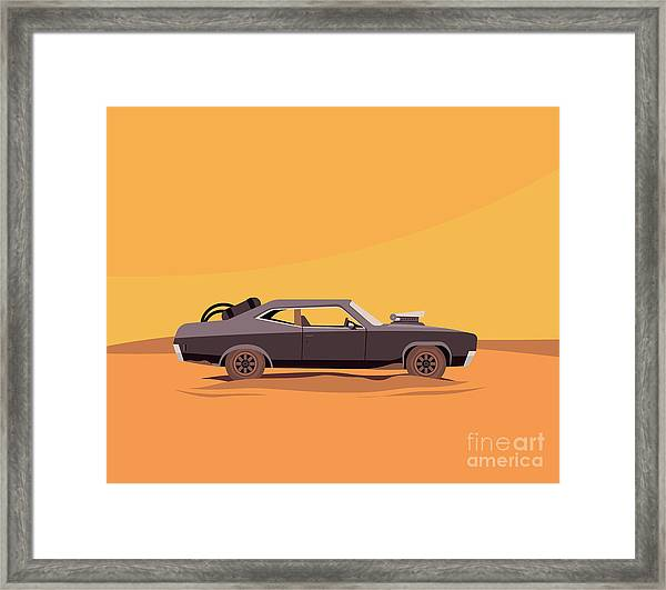 Vector Flat Illustration Of A Vehicle Framed Print by Supercaps