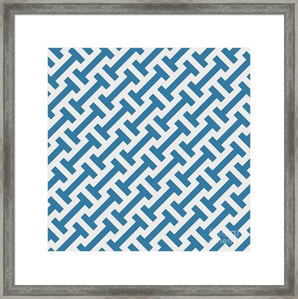Vector Geometric Pattern. Seamless Framed Print