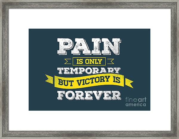 Vector Grunge Concept With Inspiration Framed Print