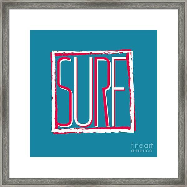 Vector Illustration Californian Surf Framed Print