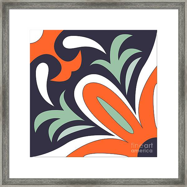 Vector Ornamental Tile Background Framed Print