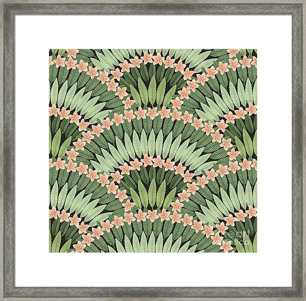 Vector Seamless Pattern Of Hand Drawn Framed Print