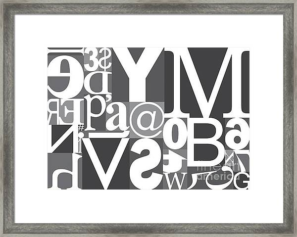 Vector Typography Blocks Framed Print by Rob Pitman