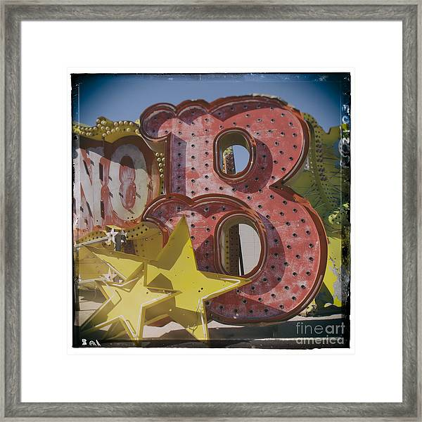 Vegas Red Letter B Framed Print